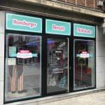 Diner & Donut - lettrage vitrine