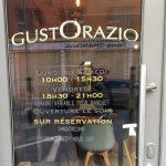 GustOrazio (horaire) - lettrage vitrine