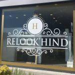 Relook'hind - lettrage vitrine