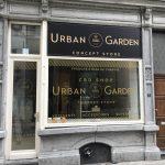 Urban Garden - lettrage vitrine
